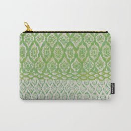 painterly diamonds in washed out lime Carry-All Pouch