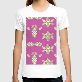 Jewelbox: Citrine Brooch on Dark Lipstick T-shirt