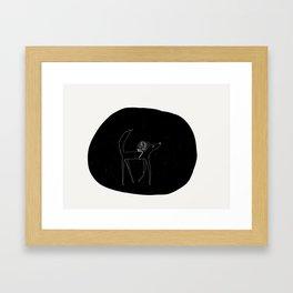 Wolfback Reading Framed Art Print