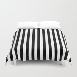 Stripe Black And White Vertical Line Bold Minimalism Duvet Cover