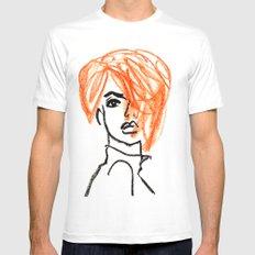 orange hair girl MEDIUM White Mens Fitted Tee