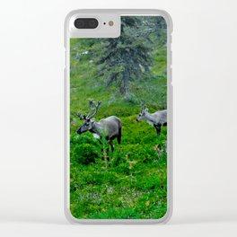 Laplandic Reindeer Clear iPhone Case