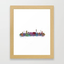 Berlin City Skyline HQ4 Framed Art Print