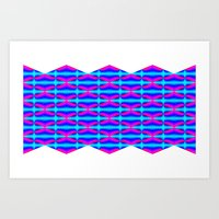 """""""Pink and blue"""" Art Print"""