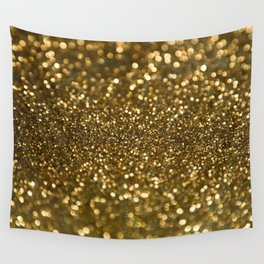 Gold Sparkle Pattern Wall Tapestry