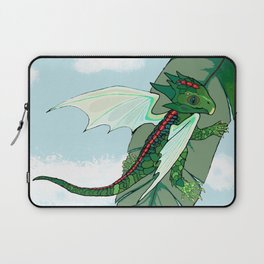 Emerald Fairy Dragon Laptop Sleeve