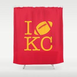 I love Kansas City Football Shower Curtain