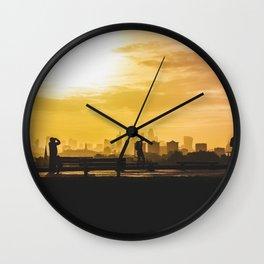 London Sunrise on Pimrose Hill Wall Clock