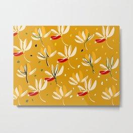 Vanilla flowers on a peanut background Metal Print