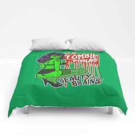 Zombie Bombshell Pinup Comforters