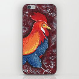 Red Rooster by Kimberly Schulz iPhone Skin