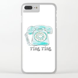 Vintage hone Ring Ring Clear iPhone Case