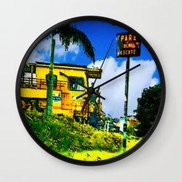 Towing train Wall Clock