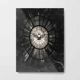 The Holy Spirit as a dove Metal Print
