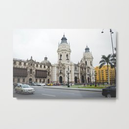 The Beauty of Downtown Lima Metal Print