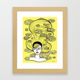 Lemon Grass Framed Art Print