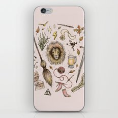 Gryffindor, Courageous and Brave! iPhone & iPod Skin