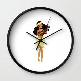 Ukulele Girl Wall Clock