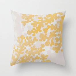 Golden Coral Throw Pillow