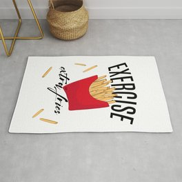 Exercise or extra fries Rug