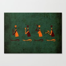 Forms of Prayer - Green Canvas Print