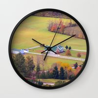 tennessee Wall Clocks featuring Tennessee Country by Mary Timman