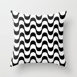Copacabana sidewalk Throw Pillow