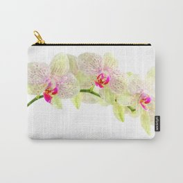 Phalenopsis orchid white lilac, watercolor fine art Carry-All Pouch