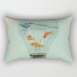 Light Bulb Goldfish Rectangular Pillow