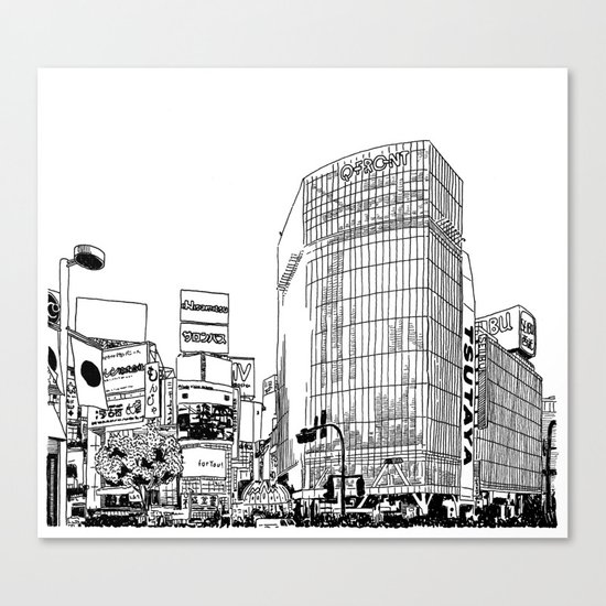Tokyo - Shibuya Canvas Print