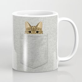 Pocket Tabby Cat Coffee Mug
