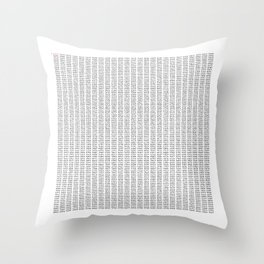 The Number Pi to 10000 digits Throw Pillow