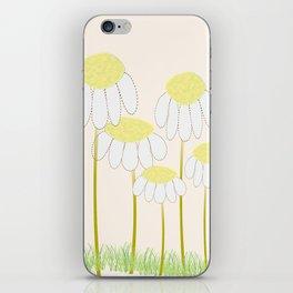 Whimsical Yellow Daisies iPhone Skin