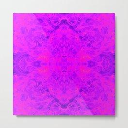 flame pattern, violet Metal Print