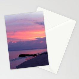 Island sunset Stationery Cards
