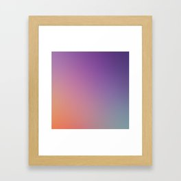 GUILTY  CONSCIENCE - Minimal Plain Soft Mood Color Blend Prints Framed Art Print