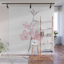 pink cherry blossom macro 2018 Wall Mural