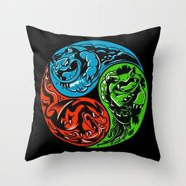 POKéMON STARTER: THREE ELEMENTS Throw Pillow