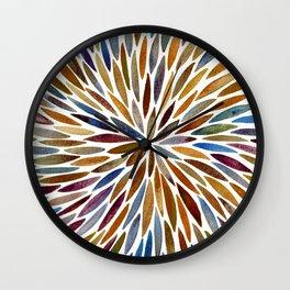 Watercolor Burst – Retro Palette Wall Clock