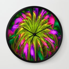 Fiesta Flower III Wall Clock