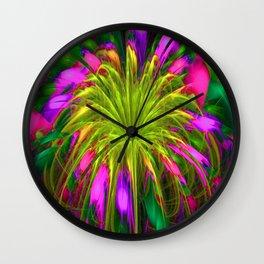 Fiesta Flower III Wall Clock