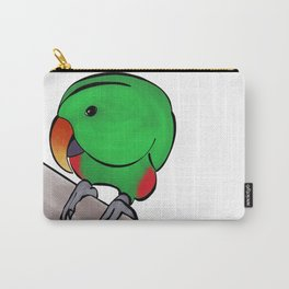 Curious Eclectus Parrot Carry-All Pouch