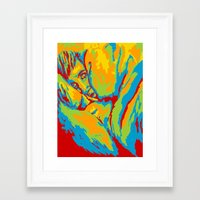 anxiety Framed Art Prints featuring Anxiety by Alex Birch