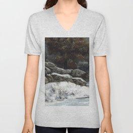 "Gustave Courbet ""The Winter (L'Hiver)"" Unisex V-Neck"