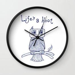 Life's a Hoot Wall Clock