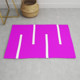 Abstract Retro Stripes Pinky Rug