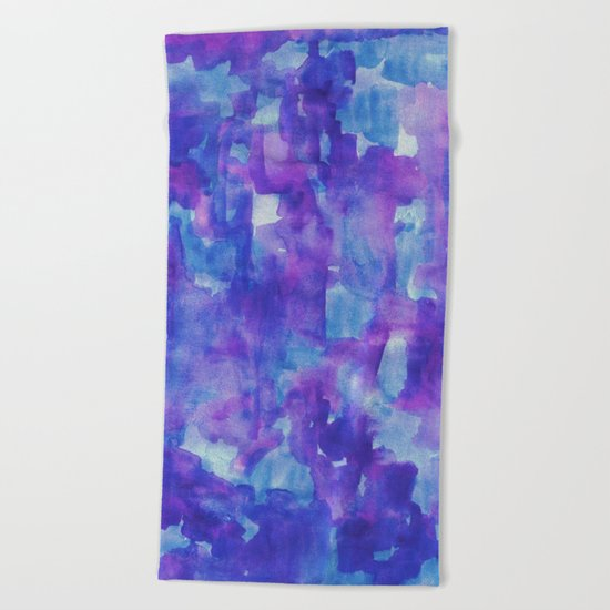 Blue & Purple Beach Towel