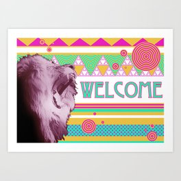 Welcome Lion Art Print