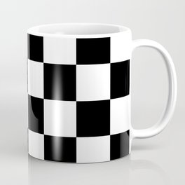 Contemporary Black & White Gingham Pattern Coffee Mug