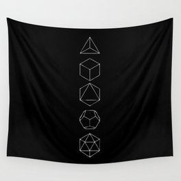 Platonic Solids Geometric Print 2 Wall Tapestry